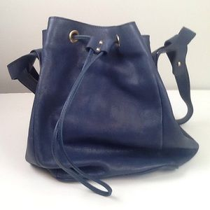 Anthropology/Mrs Albright blue leather shoulderbag
